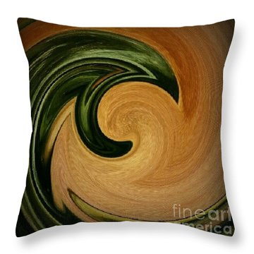 Say Yes To Swirls Throw Pillow