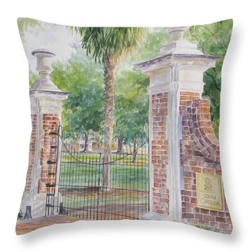 South Carolina. Horseshoe Sold Throw Pillow