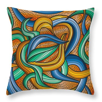 Scale Throw Pillow by Don Kuing