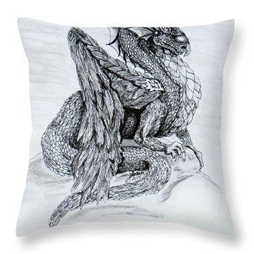 Scales And Feathers Throw Pillow