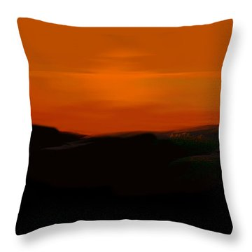 Throw Pillow featuring the digital art Scalett's Reflection by Anthony Fishburne