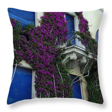 Throw Pillow featuring the photograph Scaling The Wall by Natalie Ortiz