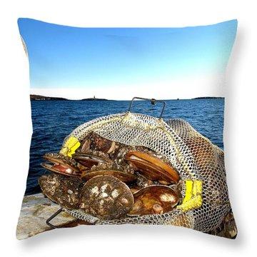 Scallops Bounty Of The Sea Throw Pillow