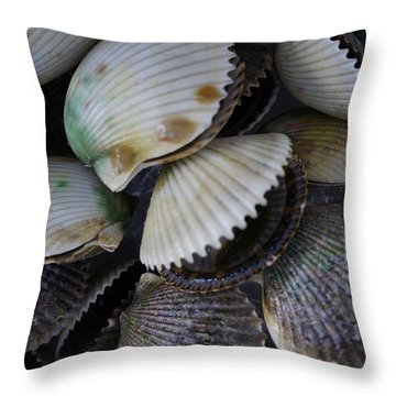 Scallops Throw Pillow by Laurie Perry