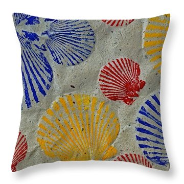 Scallops - Seafood Rainbow Throw Pillow