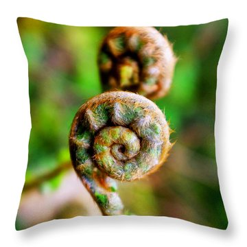 Scaly Male Fern Frond Throw Pillow by Fabrizio Troiani