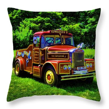 Scammell Highwayman - Color Throw Pillow