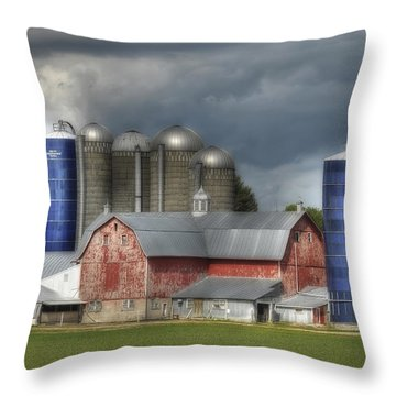 Scandinavia Skyscapers Throw Pillow