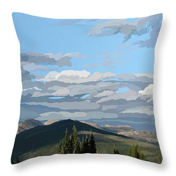 Scapegoat Panorama Throw Pillow