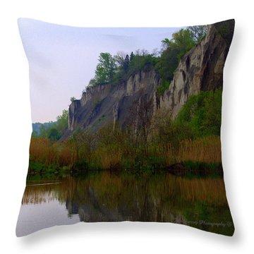 Scarborough Bluffs Throw Pillow