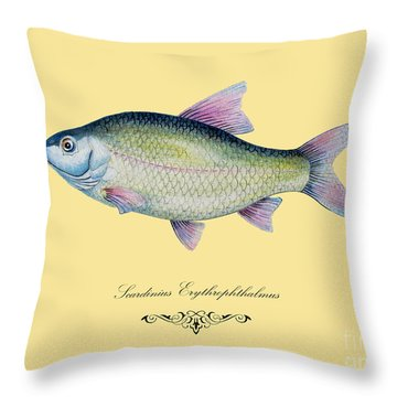 Scardinius Erythrophthalmus Throw Pillow