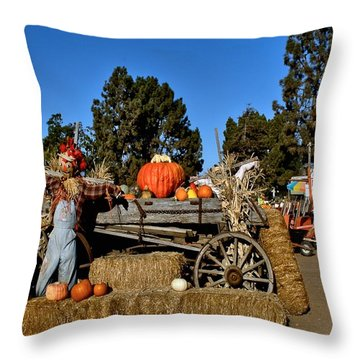 Throw Pillow featuring the photograph Scare Crow by Michael Gordon