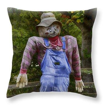 Scarecrow Throw Pillow by John Haldane