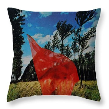 Scarf In The Winds Throw Pillow