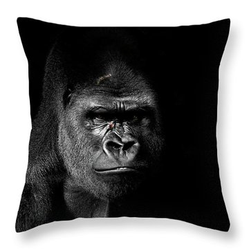 Scarface Throw Pillow by Jim Garrison