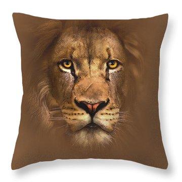 Scarface Lion Throw Pillow