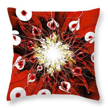 Scarlet Throw Pillow by Anastasiya Malakhova