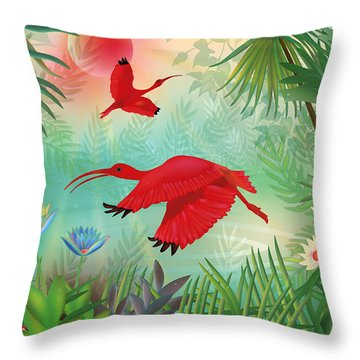 Scarlet Corocoro - Limited Edition 1 Of 20 Throw Pillow