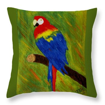 Scarlet Macaw Throw Pillow