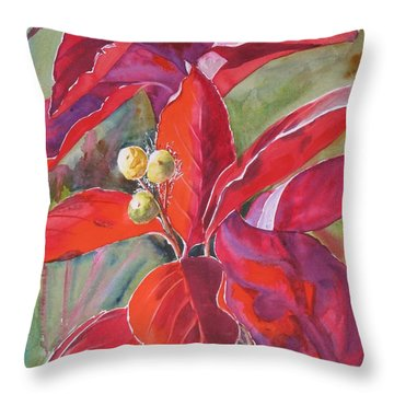 Scarlet Throw Pillow by Mohamed Hirji