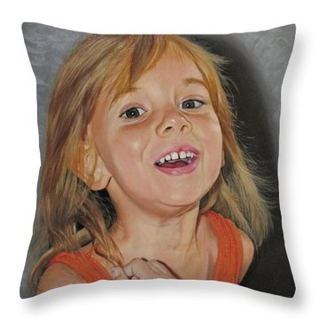 Scarlet Rose Throw Pillow