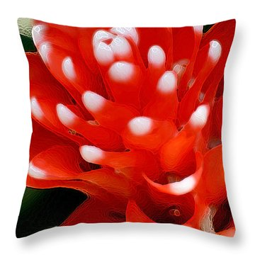 Scarlet Star Throw Pillow