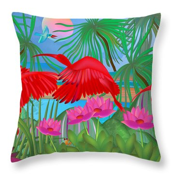 Scarlet Summer Dance - Limited Edition 1 Of 20 Throw Pillow