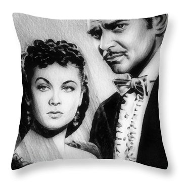 Scarlett And Rhett Throw Pillow