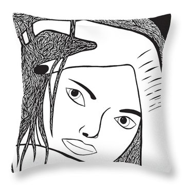 Throw Pillow featuring the drawing Scars To Prove It Dont Just Survive...thrive by Jamie Lynn