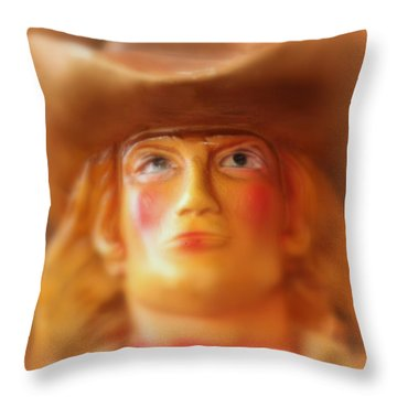 Throw Pillow featuring the photograph Scary Cowgirl by Lynn Sprowl