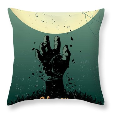 Throw Pillow featuring the painting Scary Halloween by Gianfranco Weiss