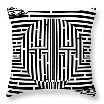 Sports Maze Throw Pillows