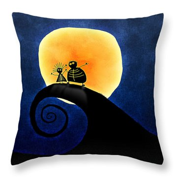 Scary Moonlight Throw Pillow