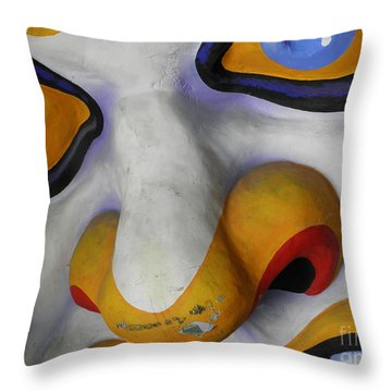 Scary Throw Pillow by Valerie Reeves