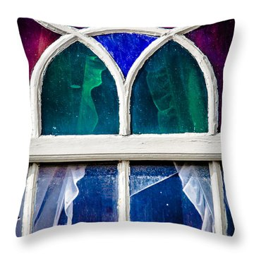 Scary Window Throw Pillow by Edgar Laureano