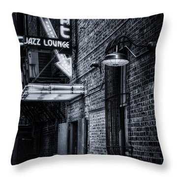 Scat Lounge In Cool Black And White Throw Pillow