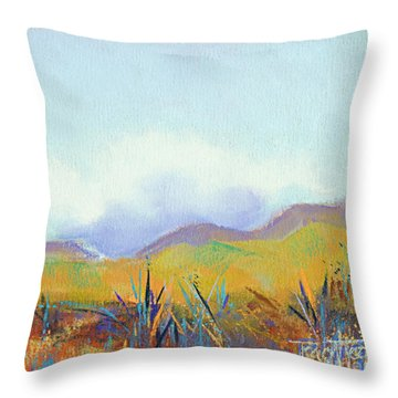 Scattered Seeds Throw Pillow by Tracy L Teeter