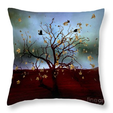 Throw Pillow featuring the photograph Scattered Thoughts by Chris Armytage