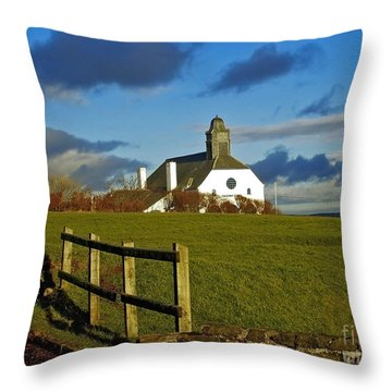 Scene From Giants Causeway Throw Pillow by Nina Ficur Feenan