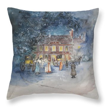 Scene From Jane Austens Emma Throw Pillow