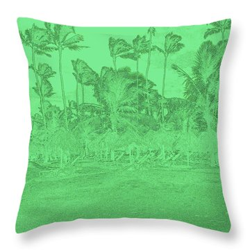 Scene In Green Throw Pillow