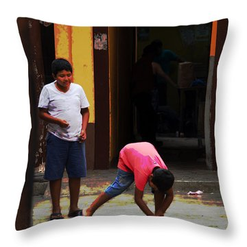 Scenes From A Taxi Ride - #2 Throw Pillow by Mary Machare