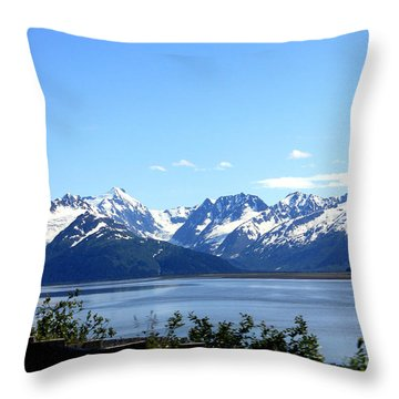 Throw Pillow featuring the photograph Scenic Byway In Alaska by Kathy  White