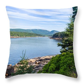 Throw Pillow featuring the photograph Scenic Cove At Acadia National Park by John M Bailey