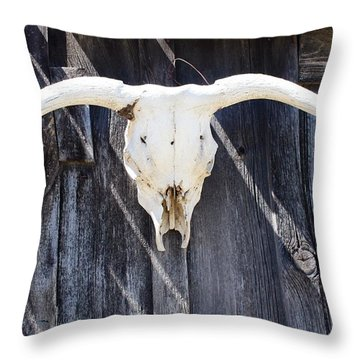 Scenic Ghost Town Throw Pillow
