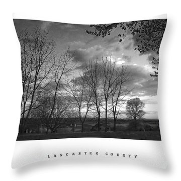 Scenic Lancaster County Throw Pillow