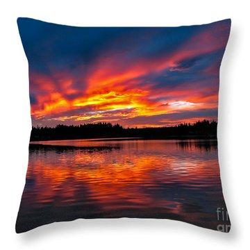 Scenic Marine Sunrise Throw Pillow by Robert Bales