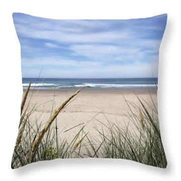 Scenic Oceanview Throw Pillow