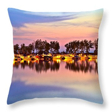 Scenic Sunset Throw Pillow by Frozen in Time Fine Art Photography