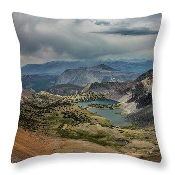 Scenic View Of Lakes Throw Pillow